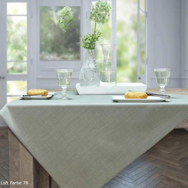 hellgrüne Tischdecke