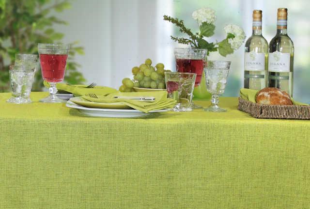 Tischdecken limonengrün