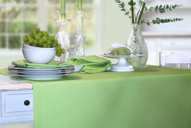 gellgrüne Tischdecke Fleckschutz