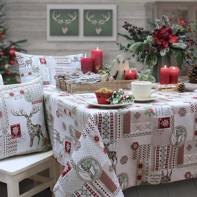 weihnachtstischdecken tisch decken. Black Bedroom Furniture Sets. Home Design Ideas