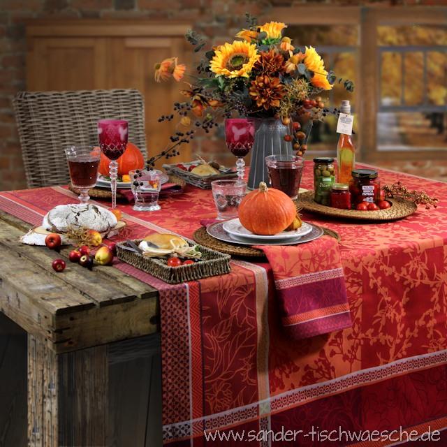 herbstliche tischdecken die neuen jacquards tisch decken. Black Bedroom Furniture Sets. Home Design Ideas