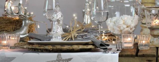 Tischdecke weihnachten beige sterne