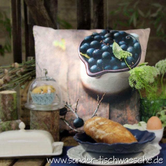 Richtig Tisch Decken: Kissen Herbstmotiv Digitaldruck