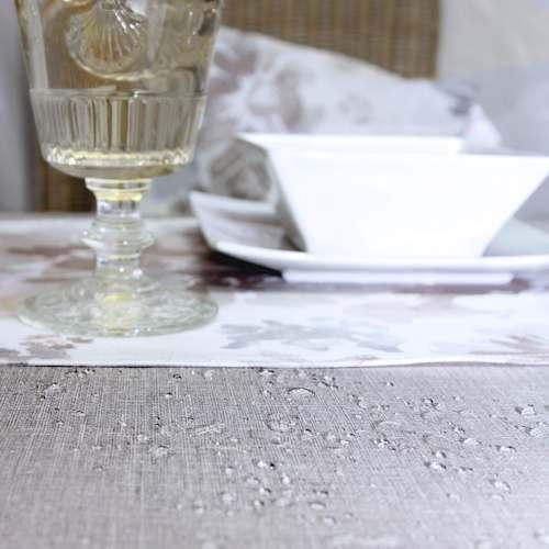 beige abwaschbare tischdecken