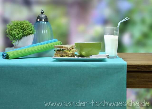 abwaschbare tischdecken blau