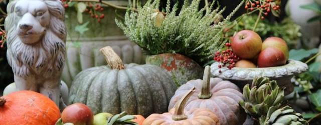 GArtendeko-Kürbis-Herbst-Gartendekoration