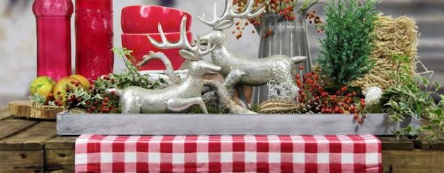 Tischdekoration Herbst im Landhausstil