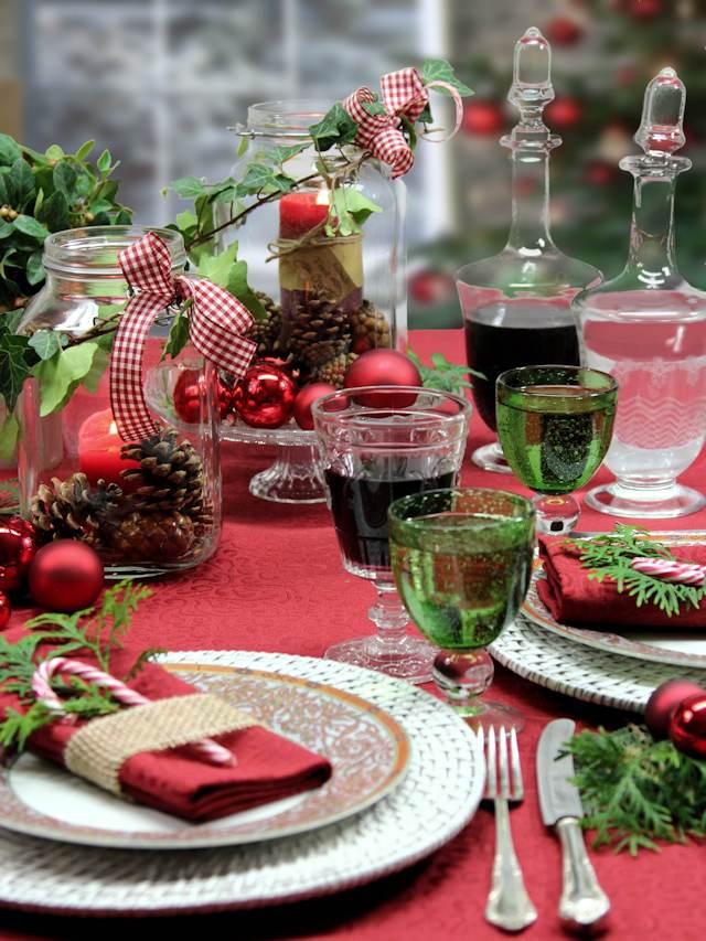 rote tischdecken weihnachten