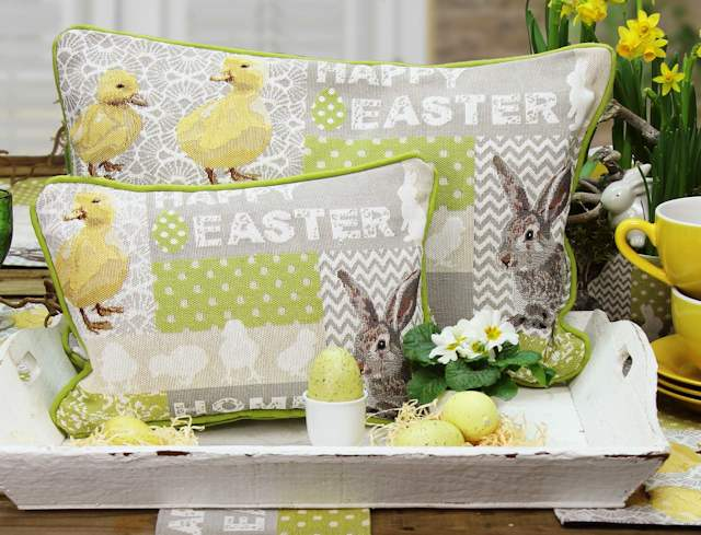 Kissen Ostern aus Gebelinmaterial von Sander