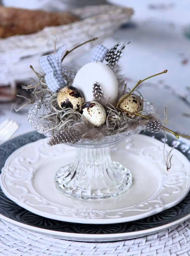 Begrüßung für jeden Gast: ein Osternest