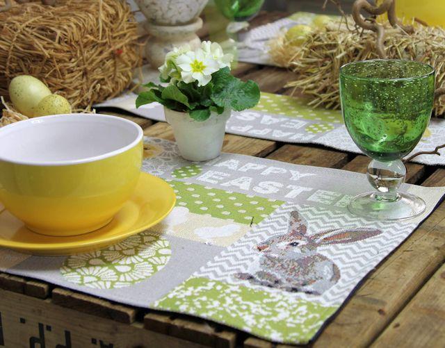 Gobelin Tischsets Osterhase