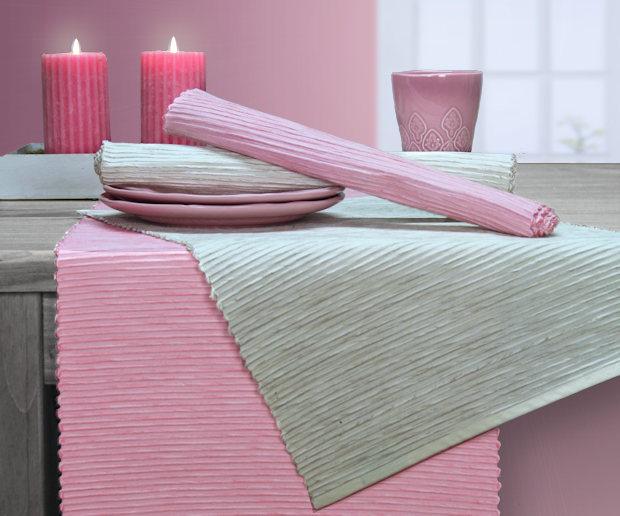 rosa Tischsets