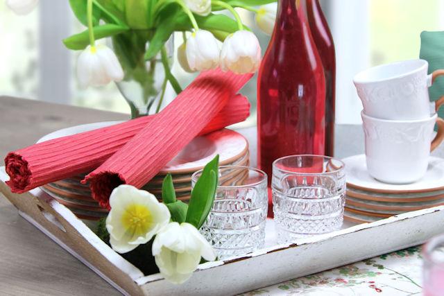 Tischsets Sommer Korallton