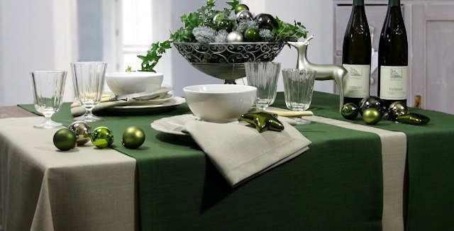 grüne Tischdecke