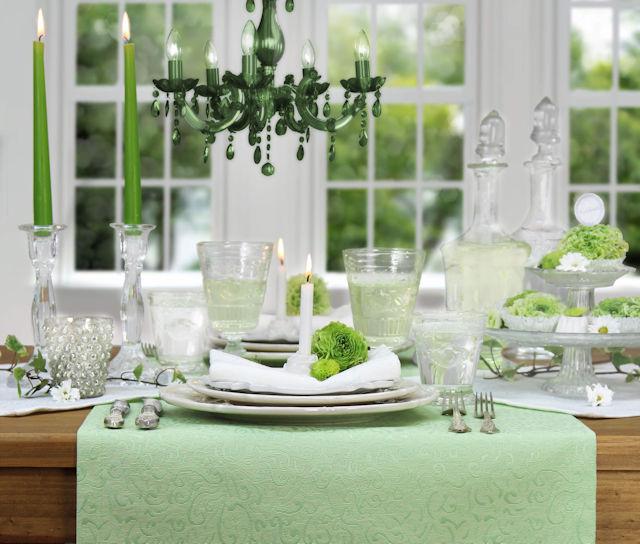 Hochzeitstisch hellgrün