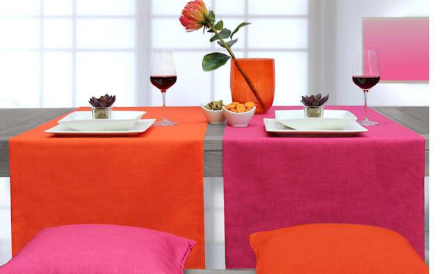 Tischläufer orange und pnk