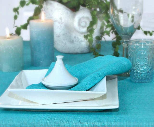Tischdecken aqua