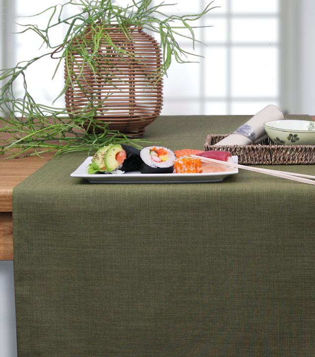 Tischläufer oliv
