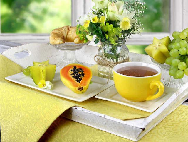 Tischset gelb
