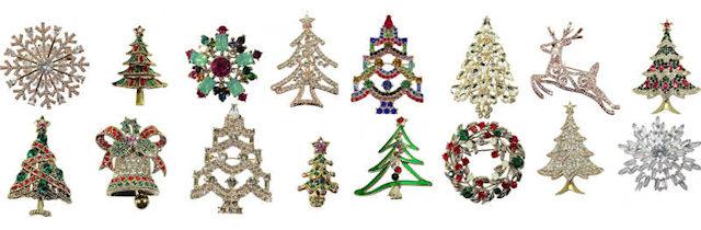 Christbaumbroschen, Weihnavhtsbaumbroschen, Weihnachtsbrosche