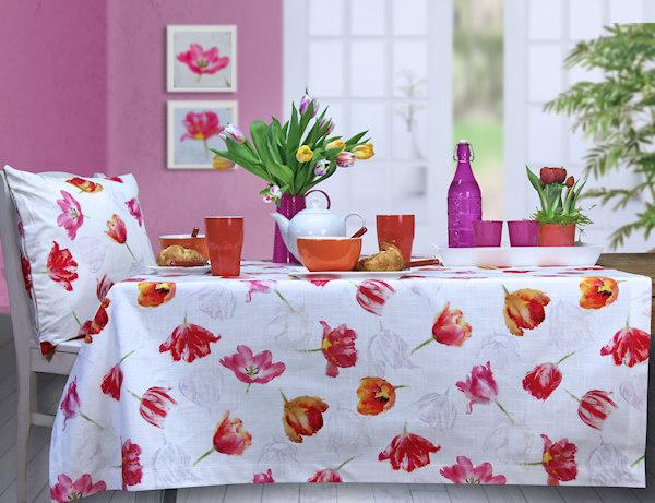 Tischdecken Tulpenmuster