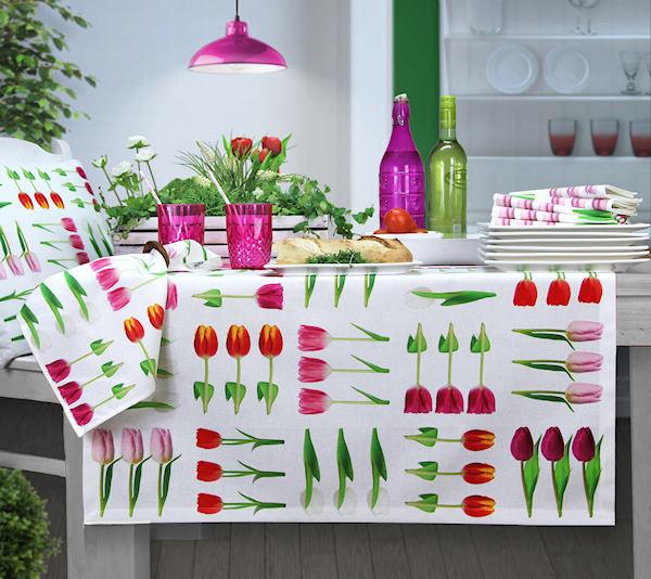 Tischdecke Tulpen