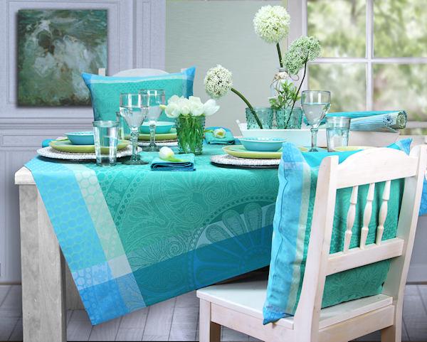 jacquard tischdecken sommer fr hling. Black Bedroom Furniture Sets. Home Design Ideas