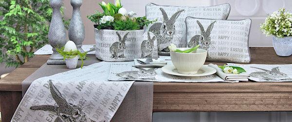 Tischsets, Tischläufer und Kissen für Ostern