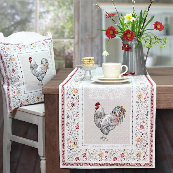 jacquard tischw sche franz sischer stil f r ostern mit motiv hahn. Black Bedroom Furniture Sets. Home Design Ideas