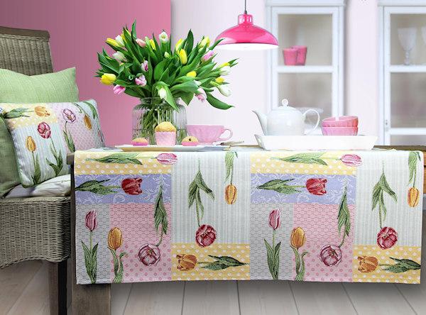 Tischdecke Tulpen, Ostertischdecke,