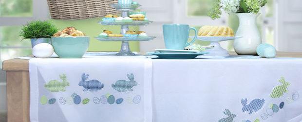 Tischdecken Ostern mit hochwertiger Stickerei