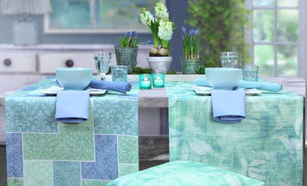 tischdecken in hellblau t rkis hellgr n online bestellen. Black Bedroom Furniture Sets. Home Design Ideas