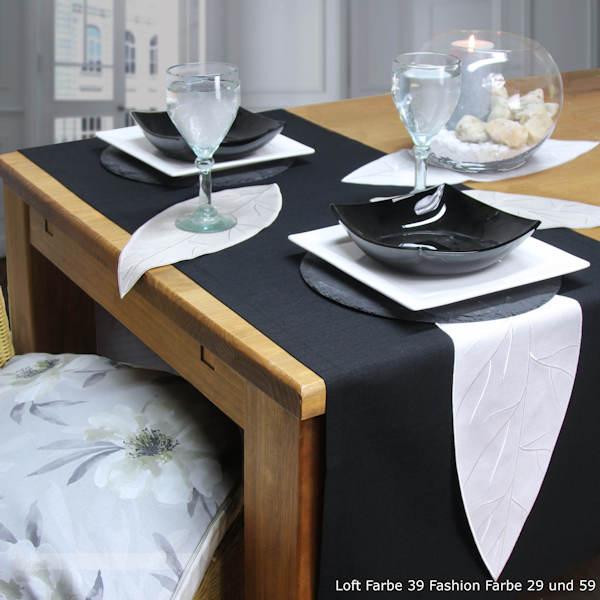 Tischläufer schwarz