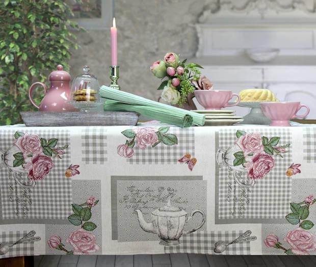 Gobelin Mitteldecke Tischdecke Rosenmotiv