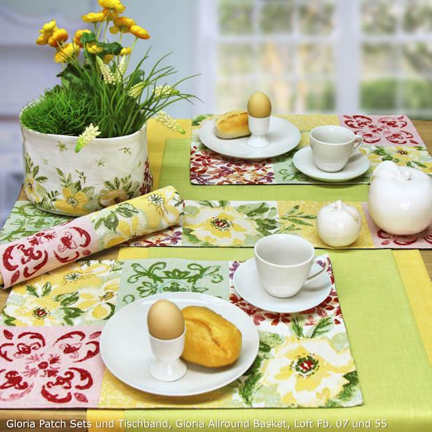 gelbe Gobelin Tischsets von Sander