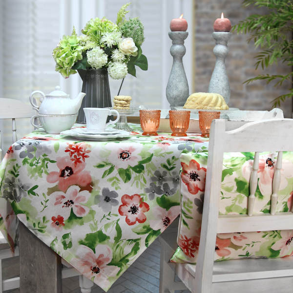 Tischdecke Blumen Sommer