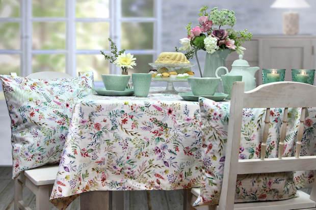 Tischdecke Sommer Blumen