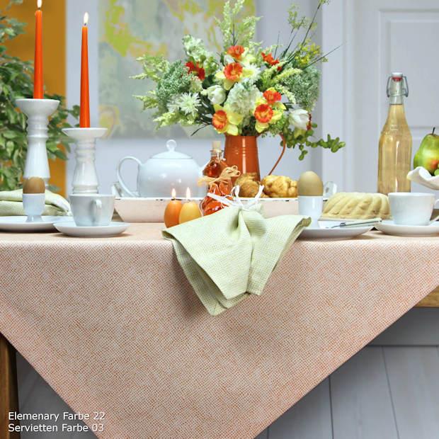 Tischdecke orange für Frühling und Ostern