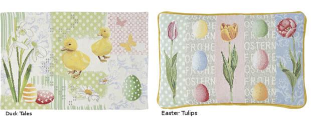 Goeblin Kissen und Tischset Ostern
