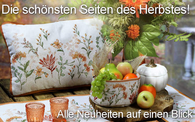 Tischwäsche Herbst Kollektion 2017