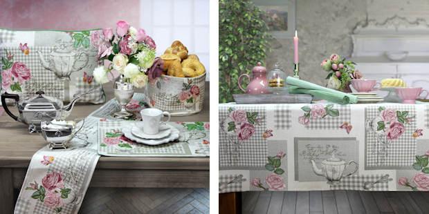 Tischsets, Tischläufer, Platzsets und Kissen aus Gobelin von Sander