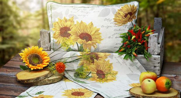 Platzsets Sonnenblumen Gobelin