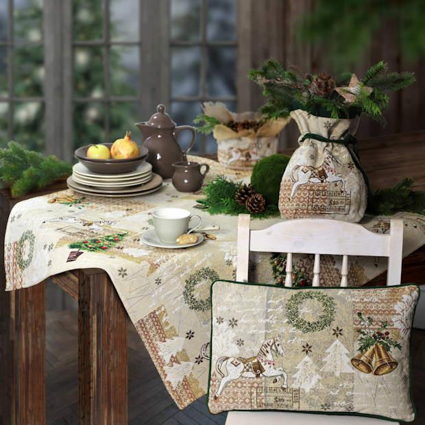 Gobelin Tischdecke Weihnachten