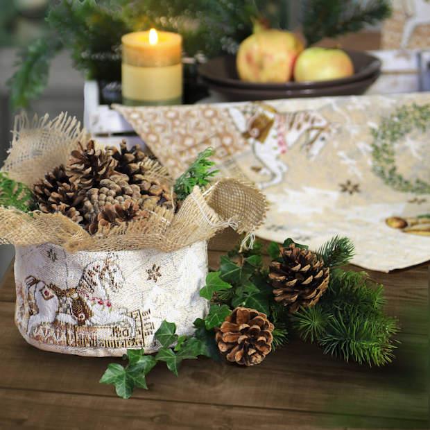 Brotkorb aus Stoff Weihnachten