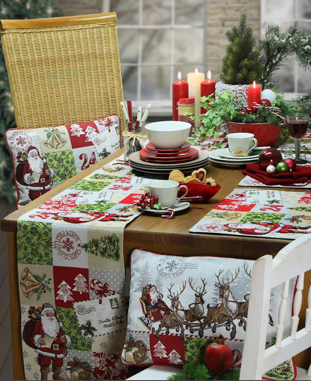 den weihnachtlichen Tisch decken mit Tischläufern von Sander