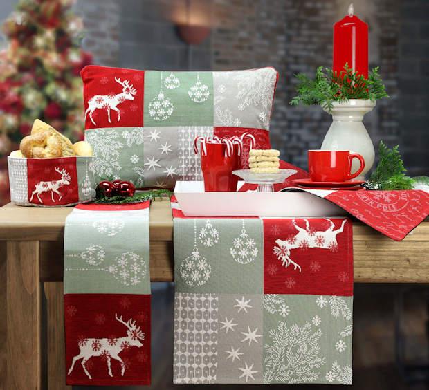 Tichläufer Weihnachten und Kissen Weihnachten