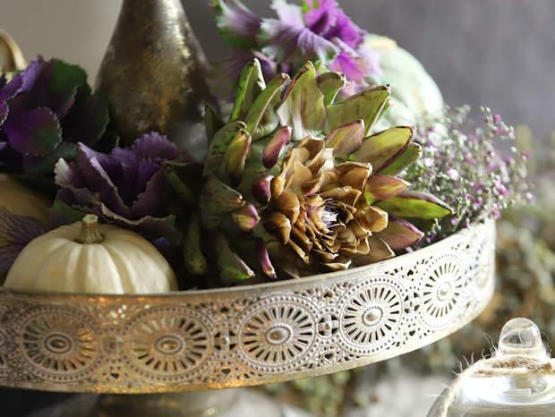 Tischdeko mit Artischocken