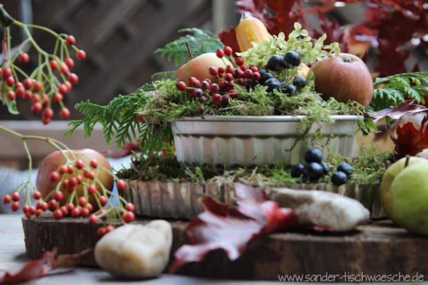 dekorierte Backform Herbst