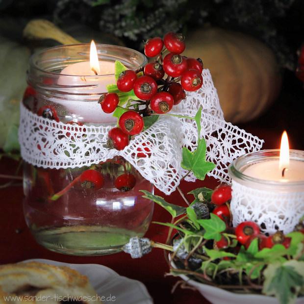 dekorierte Teelichter