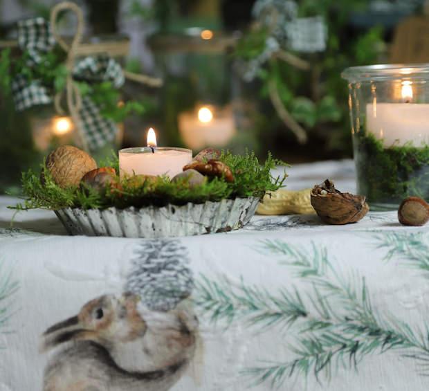 alte Kuchenform Tischdeko Weihnachten